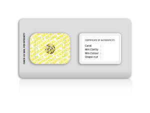 CertiCard® - under UV light CLOSED