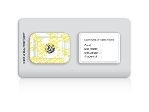 CertiCard® - under UV light OPENED