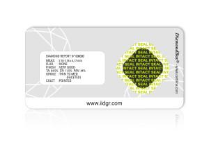 DiamondBox® - under UVA light