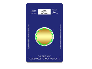 Back - CertiCard®  under UV light